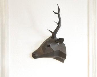 Half-Deer Trophy, Mirror Trophy, stag in half