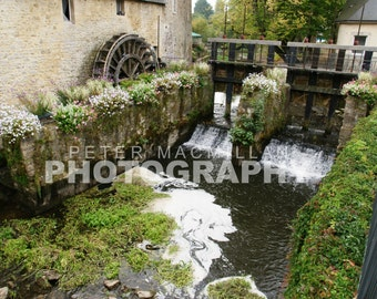 Water Wheel and Weir - Bayeux - France