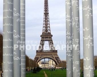 Peace Poles - Eiffel Tower - Paris