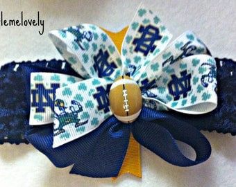 Notre Dame Baby Girl Boutique Bow Crocheted Headband
