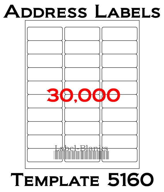 Laser ink jet labels 1000 sheets 1 x 2 5 8 for Labels 8 per sheet template word