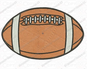 Basic American Football Embroidery Design in 2x2 3x3 4x4 and 5x7 Sizes