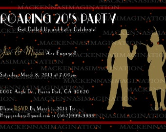Roaring 20's Invitation
