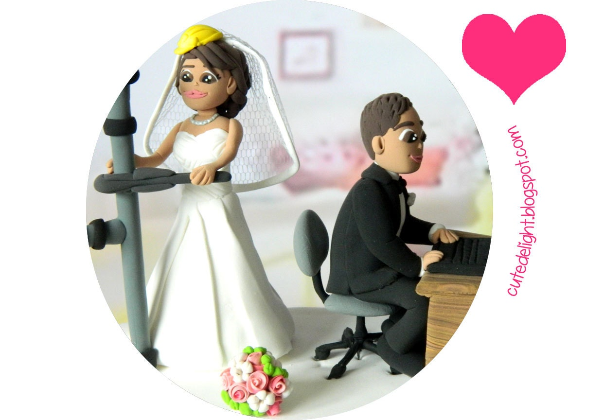 Wedding Cake Topper CUSTOM cake topper FUNNY cake topper