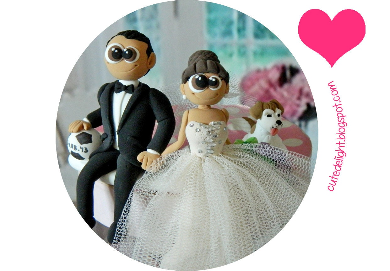 wedding cake toppers soccer wedding cake topper football cake topper soccer cake topper 8839