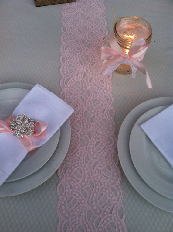 SALE! Wedding Table Runner, Blush Pink, Weddings Decor