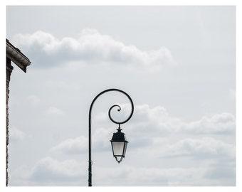 Photography, Paris decor, Lamppost in the sky, France, Fine art print, 5x7, 8x10