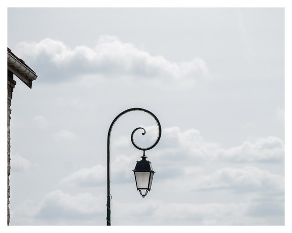 Photography, Paris decor, Lamppost in the sky, France, Fine art print, 5x7, 8x10