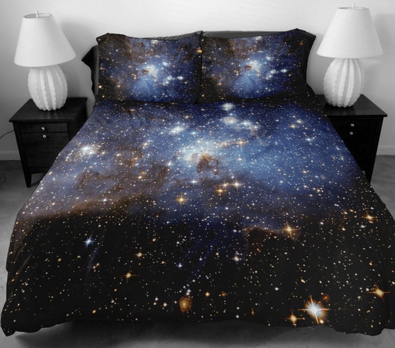 galaxy bettw sche set zwei seiten drucken galaxie von tbedding. Black Bedroom Furniture Sets. Home Design Ideas