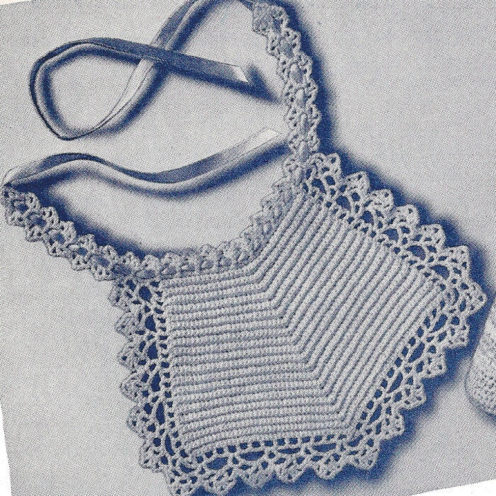 Crochet Baby Bib Patterns : Star baby bib vintage crochet pattern PDF by Ellisadine on ...