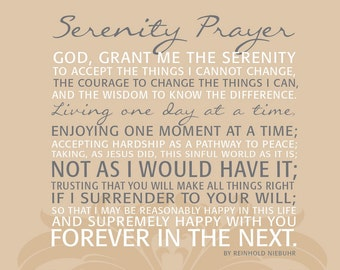 Serenity Prayer Canvas