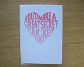 Great Secret - Limited Edition, Hand Pulled Silkscreen Card