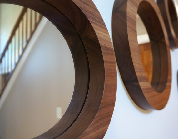 Set Of 6 Round Wall Mirrors Decorative By MushenoWoodworking