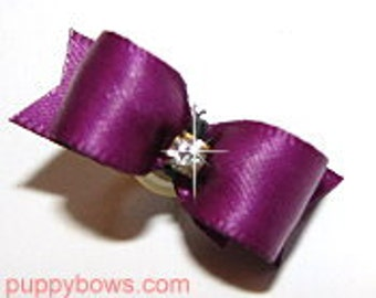 Wee Tiny Toy puppy dog bows for Yorkies, Maltese and Shih Tzu