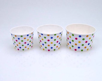 16 oz polka dot frozen yogurt Cup
