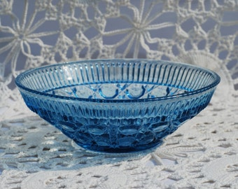 Vintage Blue Glass Dish