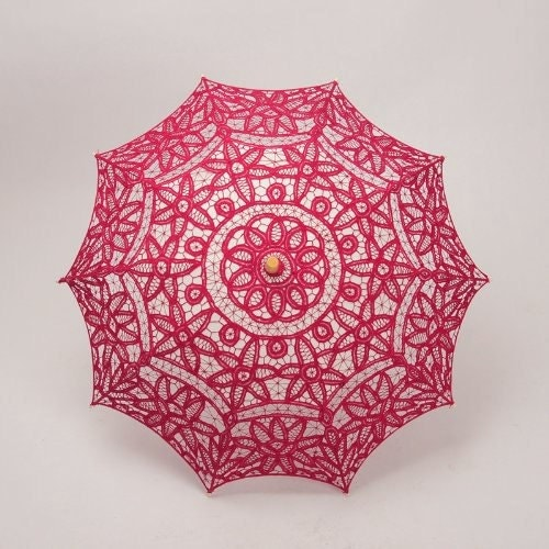 Handmade Allover Lace and Embroidery Wedding Umbrella P