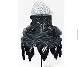Black lace lamp shade