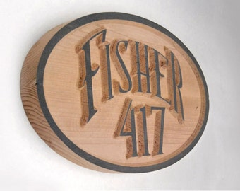 3D Oval House Plaque (letters and numbers)