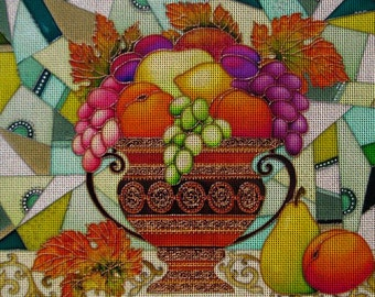 "Needlepoint canvas ""Fruits.Still life in green"" (AIV009)"
