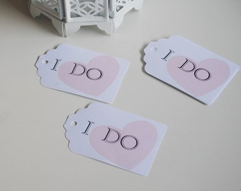 Wedding Favor Tags I Do Tags  Wedding favor tag set of 25 Wedding gift tag