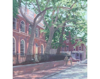"Giclee Print  ""Sunday Stroll at Christ Church, Philadelphia"""