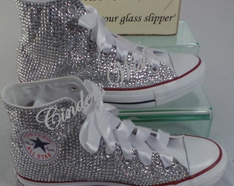 Wedding Converse - All over Sparkling Converse - Wedding shoes -Prom shoes