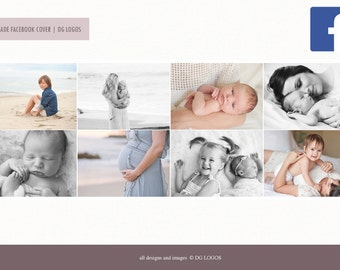 Facebook Timeline Cover Template - Premade Facebook Cover Template - Instant Download