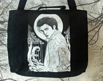 "Edward Cullen ""Dazzle me"" Twilight messenger bag, one of a kind, original"