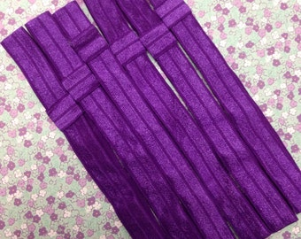 "5/8"" Purple Interchangeable Shiny Soft Headband - 3 Pieces-Baby Headband-Girl Headband-Hair accessory-Hair Supply-Soft-Daily wear"