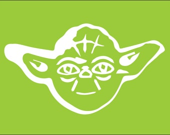 Star Wars Yoda Silhouette for Nursery/Boys Room - 5x7