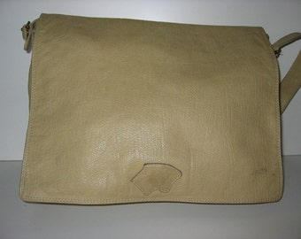 Messenger bag uni leather bag boho beige Bagheera