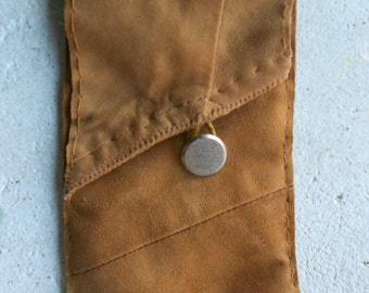 Sand Secrets ~ Leather Handmade iPhone4 or Mobile phone case with genuine fine leather !