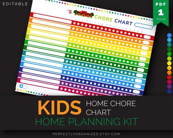 Printable Chore Chart Planner