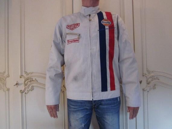 Vintage Steve Mcqueen Racing Jacket Dakota