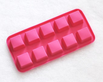 10-cavity Square Cake Mold Mould Silicone Mold Biscuit Mold Chocolate Mold Soap Mold