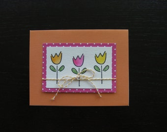 Blank, stamped Tulip card for any occasion