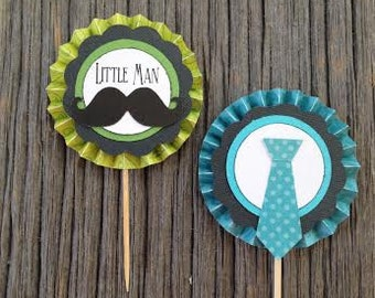 Little Man Cupcake Toppers (Set of 12)