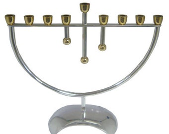 Gold and Silver Traditional Menorah