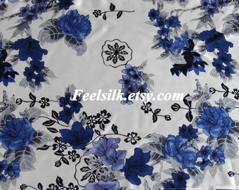 Feelsilk 100% mulberry silk printed fabric pure silk 45inch wide 16.5m/m sold by yard