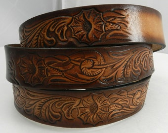 Name Belt. Western design NBT928 Includes name in center back, utility buckle & leather keeper
