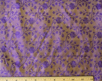 "Purple Tissue Taffeta Jacquard 100% Silk Fabric, 44"" Wide, By The Yard (JD-505)"