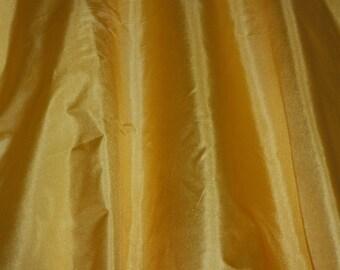 "Gold Tissue Taffeta Silk, 100% Silk Fabric, 44"" Wide, By The Yard (TS-7323)"