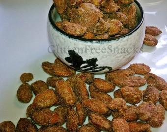 Celiac-Friendly, Gluten Free, Cinnamon and Sugar Roasted Almonds - 8oz