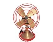 Vintage Industrial Desk Fan - Working Polished Aluminum Art Deco Electric Fan