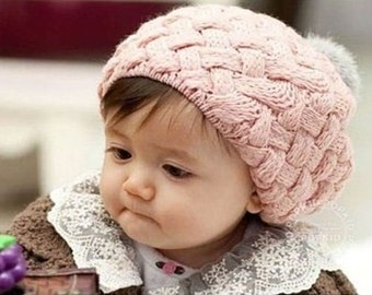 Pink Knitted Toddler Hat