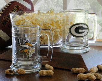 Personalized NFL Sports Mug - NFL Beer Mugs - nfl mugs - Personalized beer mugs - Groomsmen Gifts - GC957