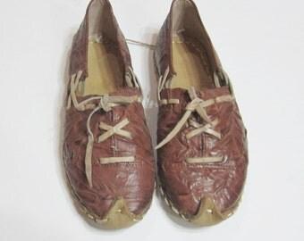 Turkish Yemeni Organic Hand Made Genuine Leather Shoes light brown