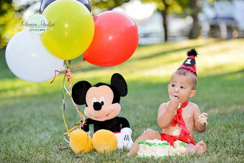 Mickey Mouse Smash Cake: Baby Boy/ Toddler Mickey Mouse Cake Smash Outfit For First