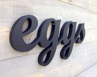 Rustic Eggs Sign - EGGS sign - Kitchen Sign EGGS